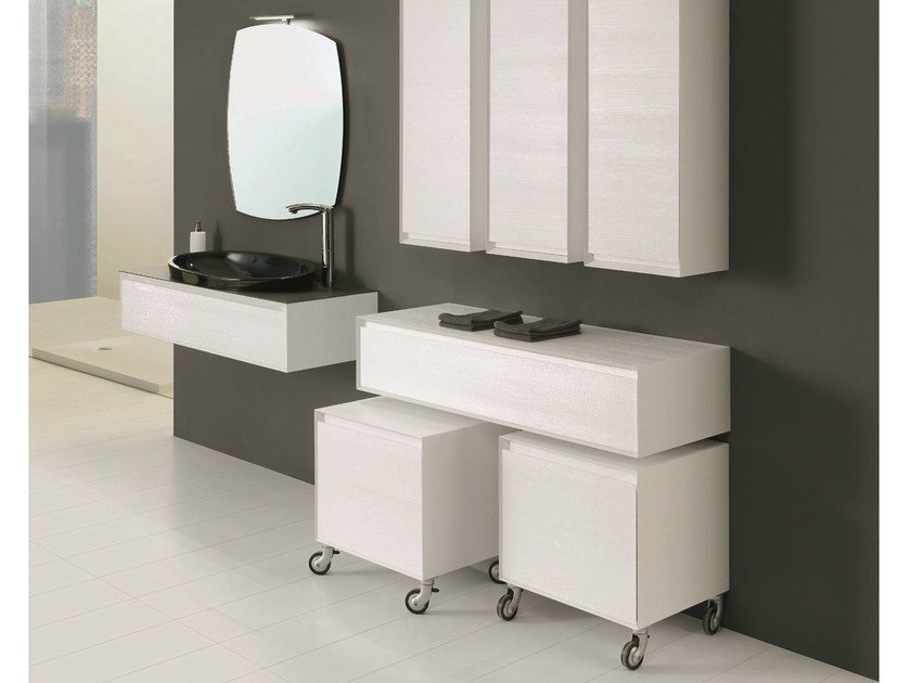 Elm vanity unit with cabinets LU.23 by Mobiltesino