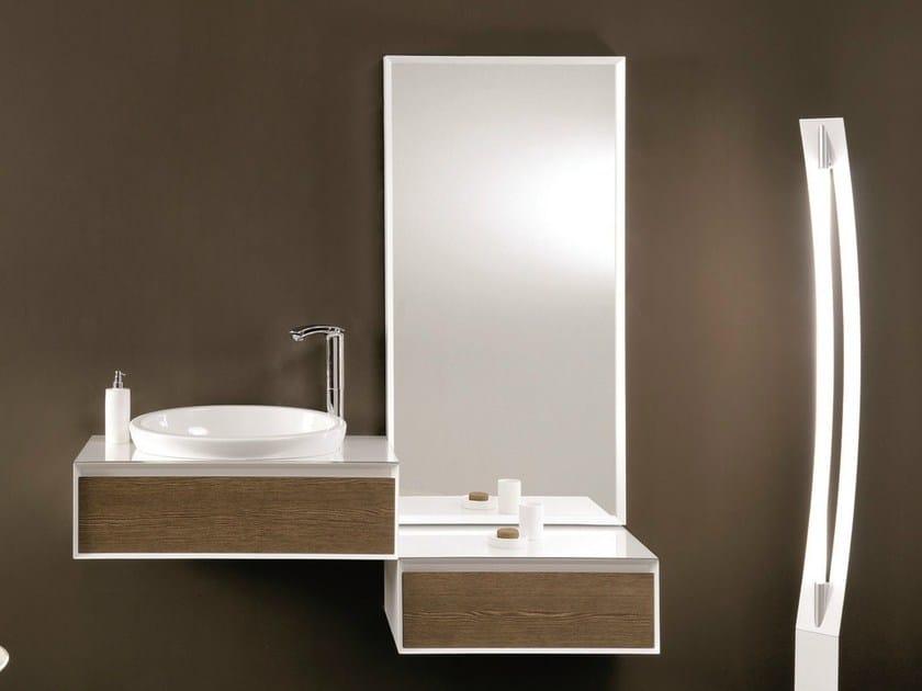 Single vanity unit with drawers LU.11 by Mobiltesino