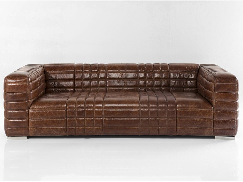 3 seater leather sofa SQUARE DANCE by KARE-DESIGN