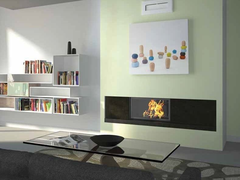 Wood-burning built-in wall-mounted fireplace CHAMBLY by CHEMINEES SEGUIN