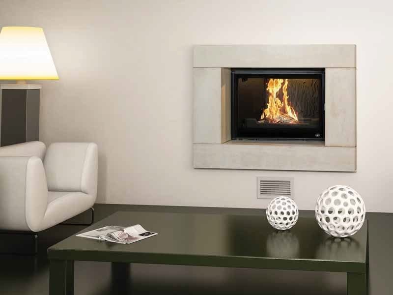 Wood-burning built-in wall-mounted fireplace CAMÉTA II by CHEMINEES SEGUIN