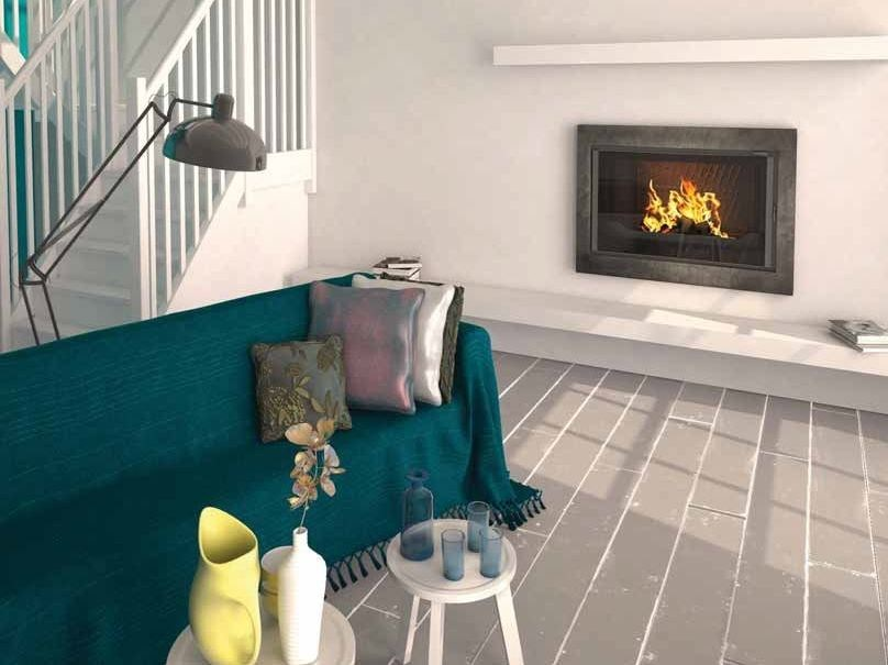 Wood-burning built-in wall-mounted fireplace CLARA by CHEMINEES SEGUIN