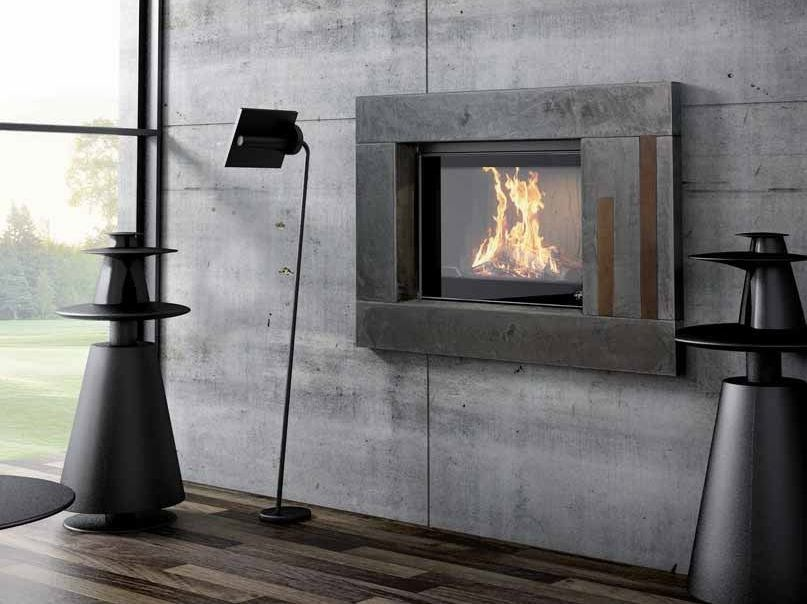 Wood-burning built-in wall-mounted fireplace CALHAO I by CHEMINEES SEGUIN