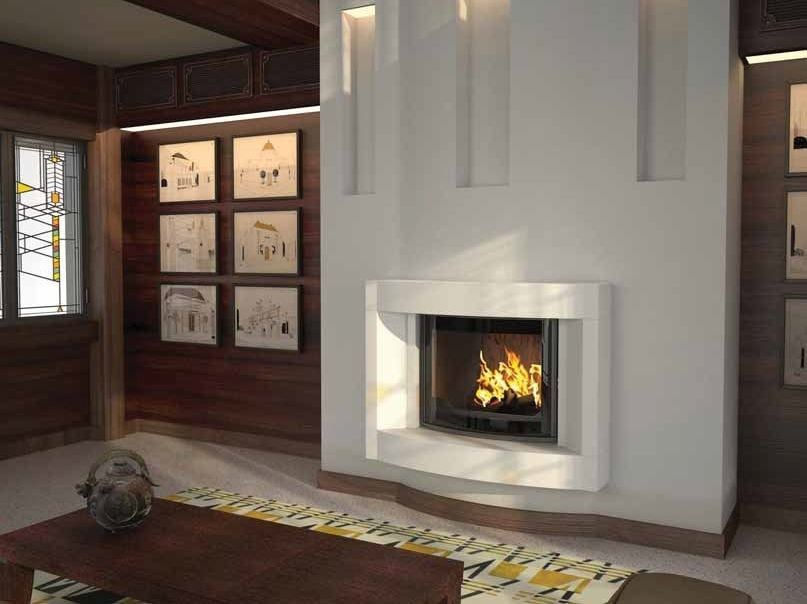 Wood-burning built-in wall-mounted fireplace CHEMILLY by CHEMINEES SEGUIN