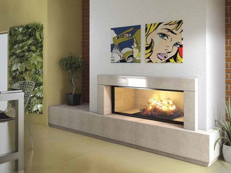 Wood-burning built-in fireplace ALICIA by CHEMINEES SEGUIN
