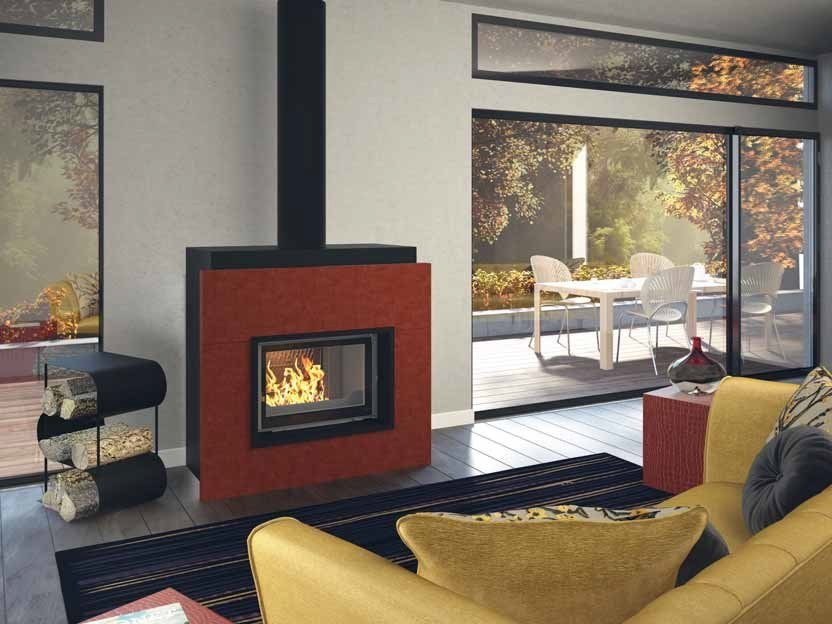 Wood-burning built-in fireplace ARTESIS by CHEMINEES SEGUIN