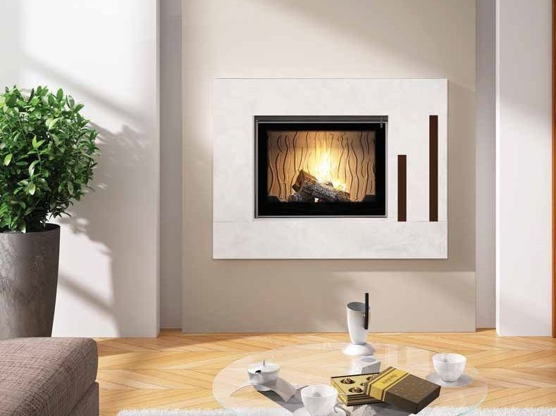 Wood-burning built-in wall-mounted fireplace CALHAO II by CHEMINEES SEGUIN