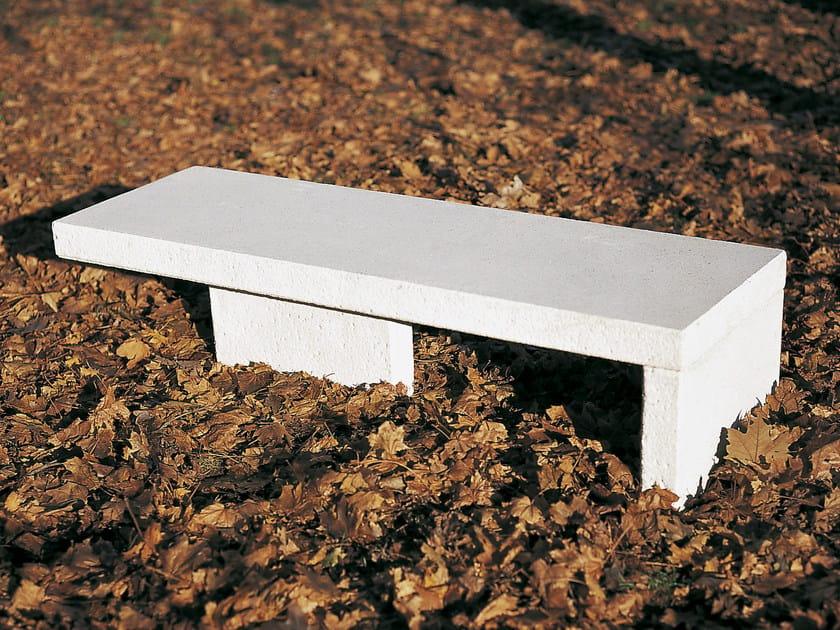 Backless concrete Bench DOLMEN by Tegolaia