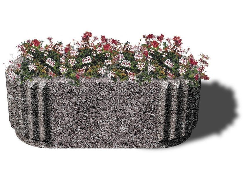 Concrete Flower pot SATURNO by Tegolaia