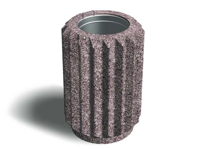 Outdoor concrete litter bin CORONETTO by Tegolaia
