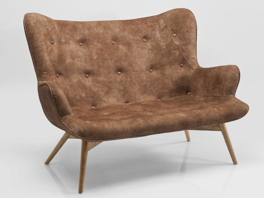 2 seater leather sofa ANGELS WINGS LEATHER by KARE-DESIGN