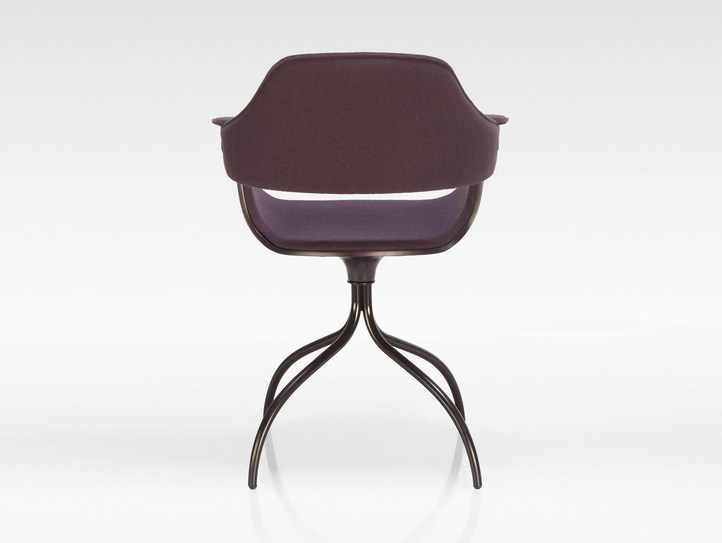 Upholstered trestle-based fabric chair SHOWTIME | Trestle-based chair by BD Barcelona Design