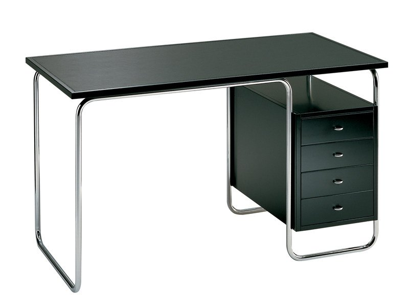 Stainless Steel Office Desk With Drawers Comacina By Zanotta