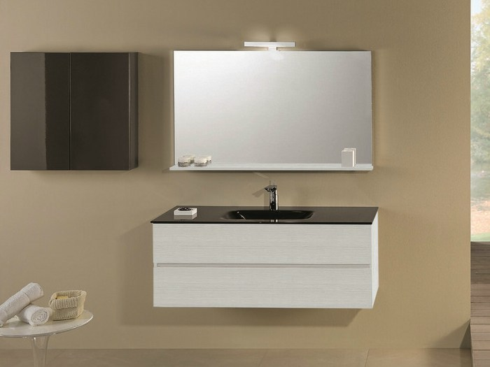 Single vanity unit with drawers HD.09 by Mobiltesino