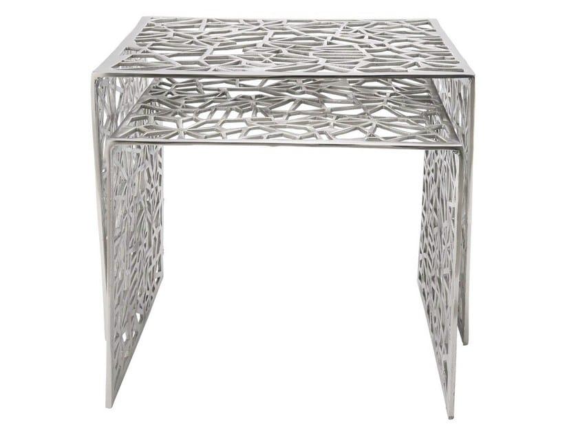 Aluminium side table SPIDERNET by KARE-DESIGN