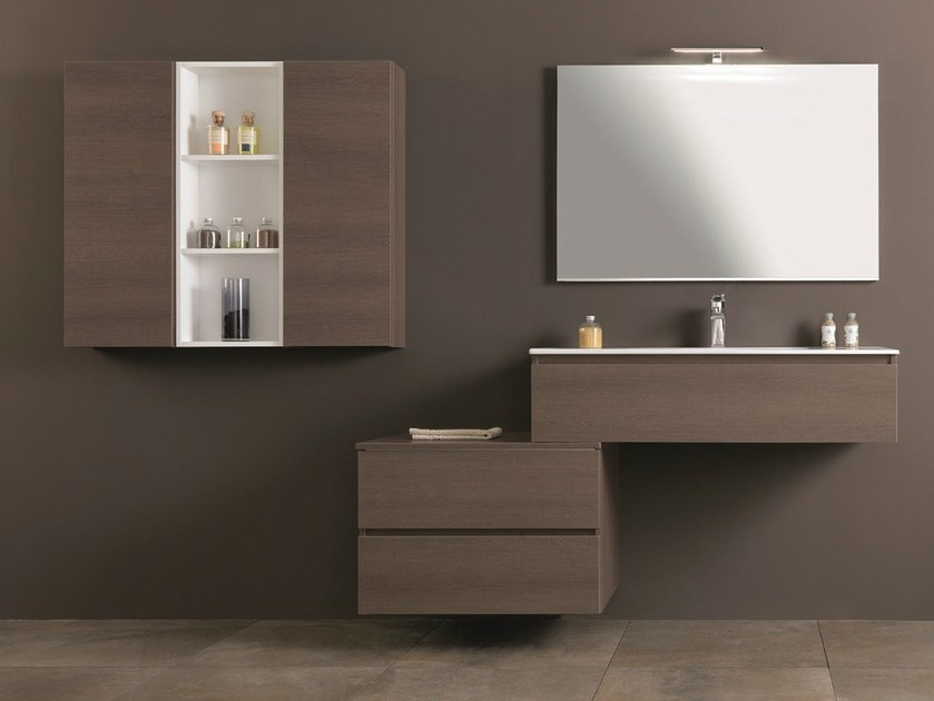 Single vanity unit with drawers HD.12 by Mobiltesino