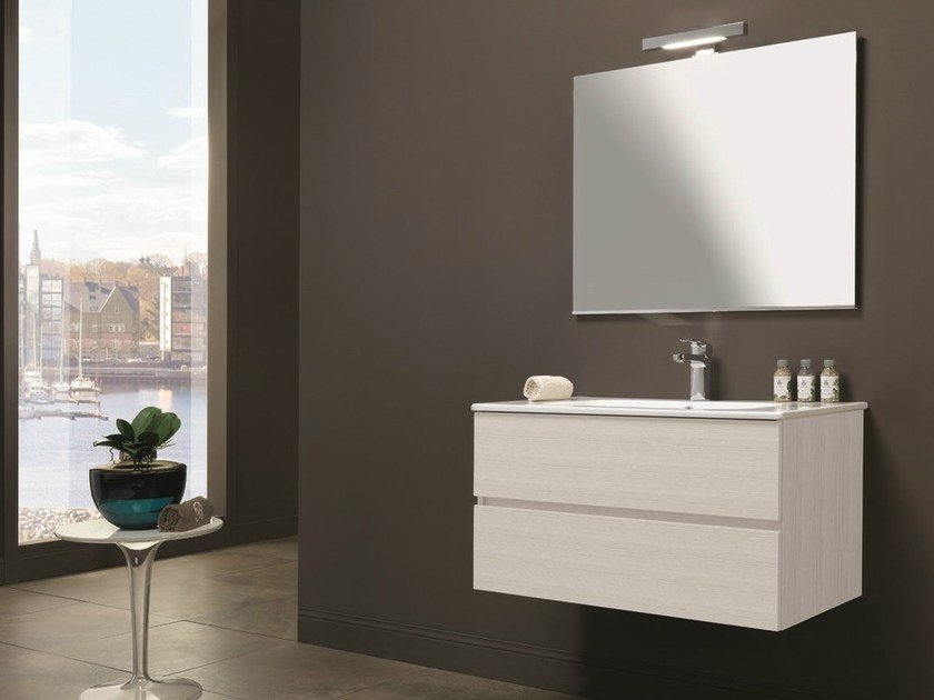 Single vanity unit with drawers HD.14 by Mobiltesino