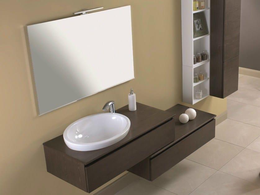 Single wall-mounted vanity unit HD.15 by Mobiltesino