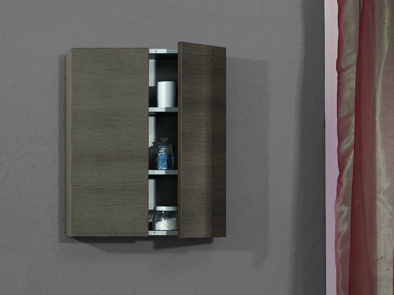 Walnut wall cabinet with doors PS207567 | Wall cabinet by Mobiltesino