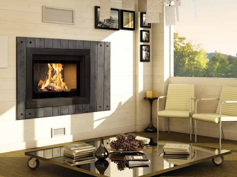 Wood-burning built-in wall-mounted fireplace MIDLAND by CHEMINEES SEGUIN