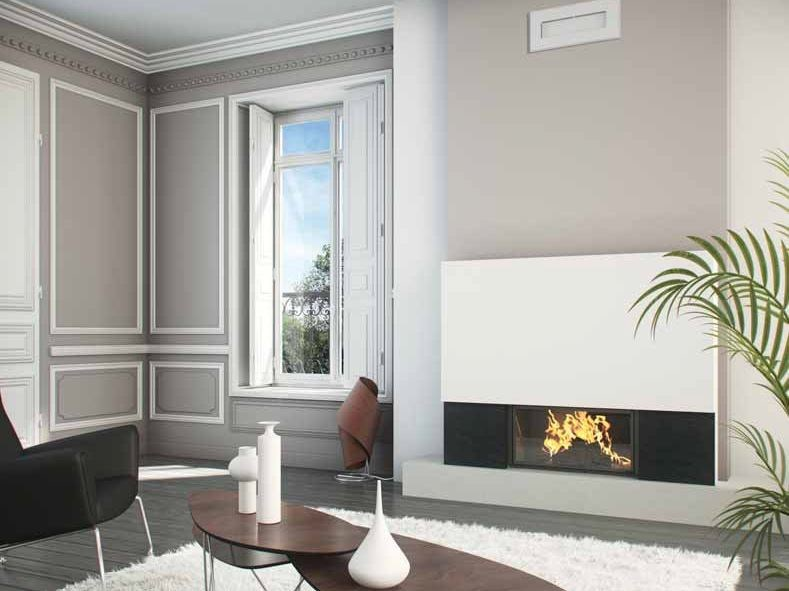 Wood-burning built-in wall-mounted fireplace ERIS by CHEMINEES SEGUIN