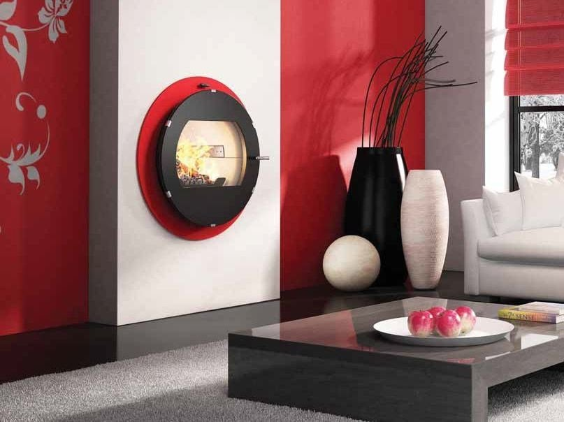 Wood-burning built-in wall-mounted fireplace INTEGRAL | Built-in fireplace by CHEMINEES SEGUIN