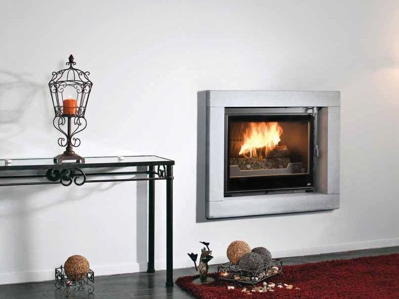 Wood-burning built-in wall-mounted fireplace KANOA by CHEMINEES SEGUIN
