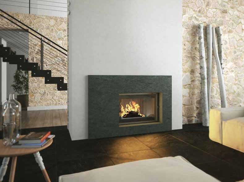 Wood-burning built-in wall-mounted fireplace MARSA by CHEMINEES SEGUIN