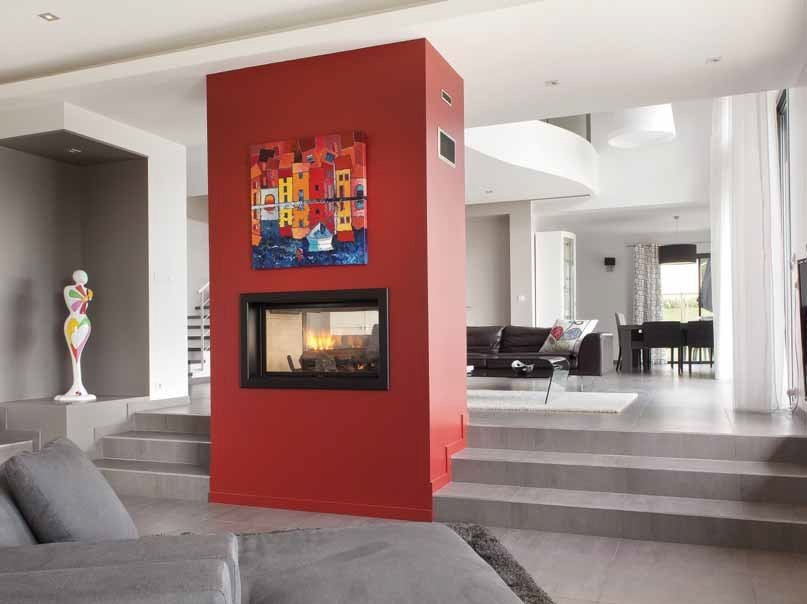 Wood-burning built-in fireplace KARA by CHEMINEES SEGUIN
