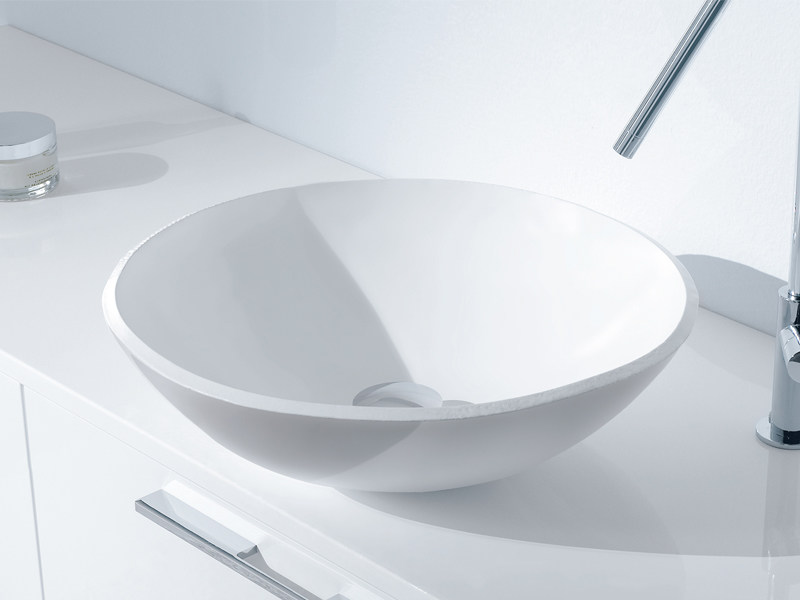 Countertop round ceramic washbasin COPPA by Edoné by Agorà Group