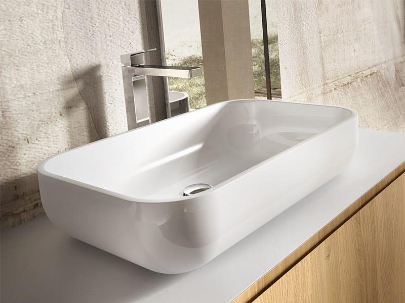 Countertop rectangular washbasin ALTARE by Edoné by Agorà Group
