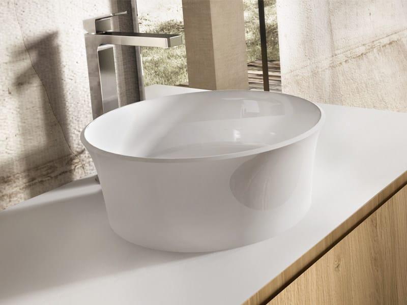 Countertop round washbasin RONDÓ by Edoné by Agorà Group