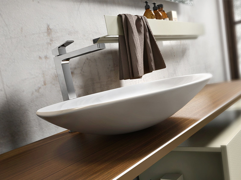 Countertop oval washbasin ARPA by Edoné by Agorà Group