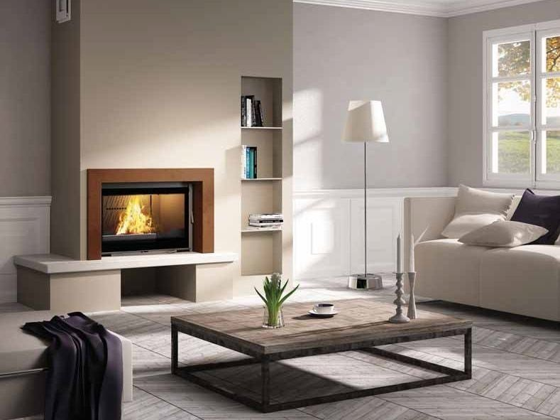Wood-burning built-in wall-mounted fireplace TOSCA by CHEMINEES SEGUIN