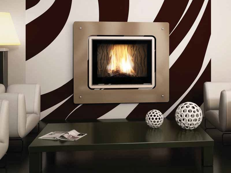 Wood-burning built-in wall-mounted fireplace MURANO by CHEMINEES SEGUIN
