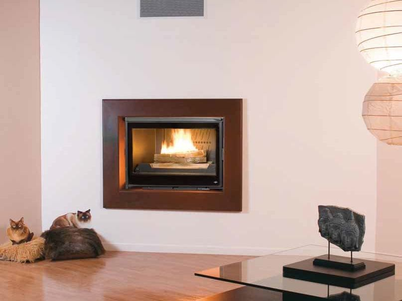 Wood-burning built-in wall-mounted fireplace NOAH by CHEMINEES SEGUIN