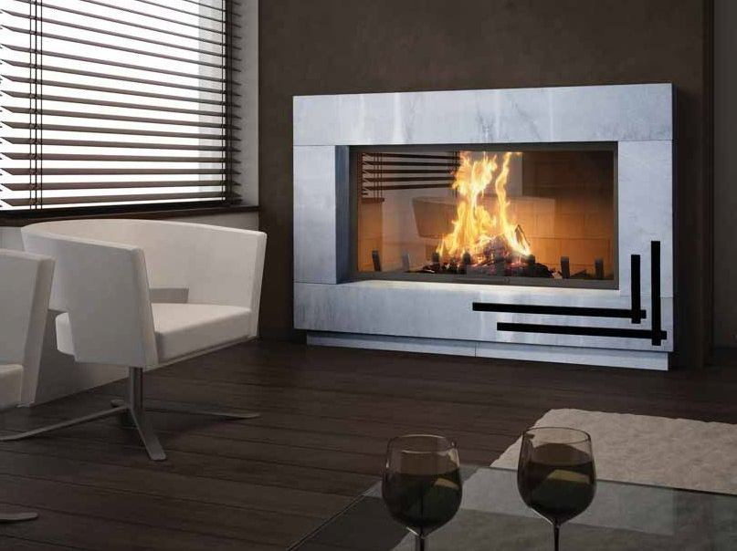 Wood-burning built-in wall-mounted fireplace ODESSA by CHEMINEES SEGUIN