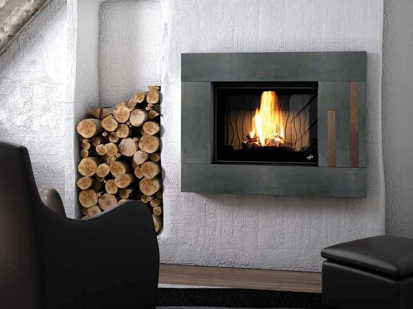 Wood-burning built-in wall-mounted fireplace TANAGA by CHEMINEES SEGUIN