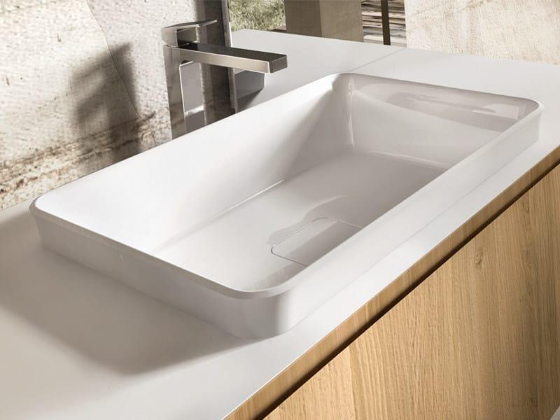 Inset rectangular washbasin NEMES by Edoné by Agorà Group