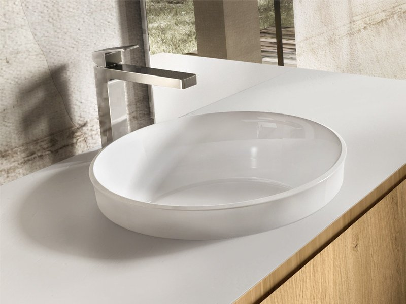 Inset round washbasin CORONA by Edoné by Agorà Group