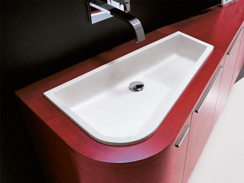 Inset single washbasin VIRGOLA | Inset washbasin by Edoné by Agorà Group