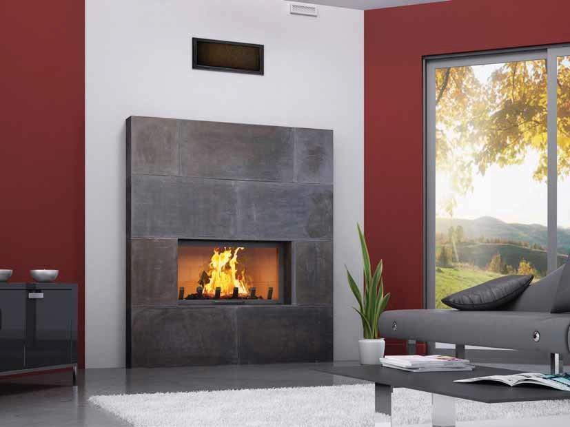 Wood-burning built-in wall-mounted fireplace YUMA by CHEMINEES SEGUIN