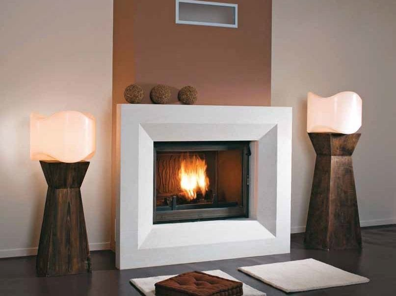 Wood-burning built-in wall-mounted fireplace NOHRA by CHEMINEES SEGUIN