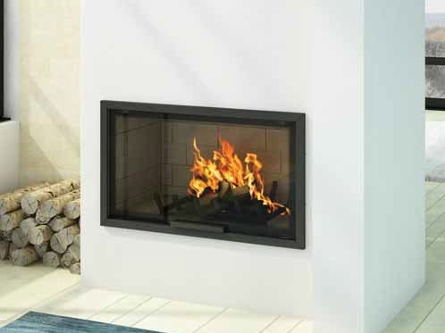 Wood-burning built-in wall-mounted fireplace LAYLA III by CHEMINEES SEGUIN