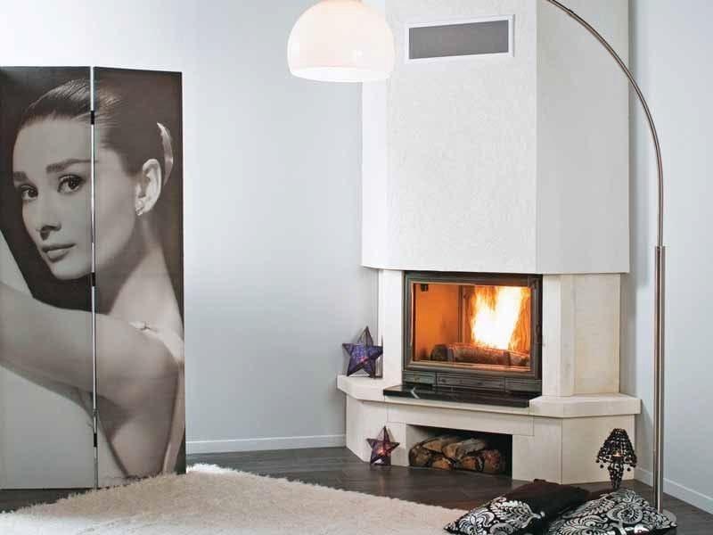 Wood-burning corner fireplace LIMA by CHEMINEES SEGUIN