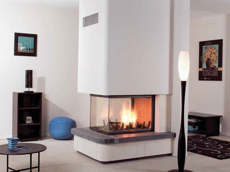 Wood-burning 3-sided fireplace MADDY by CHEMINEES SEGUIN
