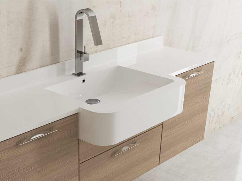 Inset rectangular washbasin PROMETEO by Edoné by Agorà Group