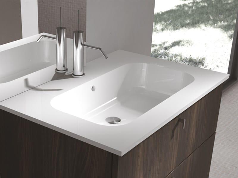 Vasche Da Bagno Zefiro : Lavabo integrato rettangolare zefiro by edoné by agorà group