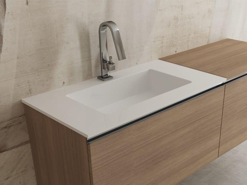 Inset rectangular washbasin IDRA by Edoné by Agorà Group