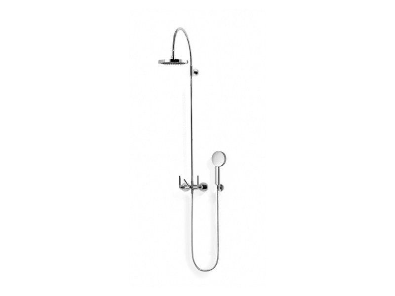 Shower panel with overhead shower with hand shower TARA | Shower panel by Dornbracht